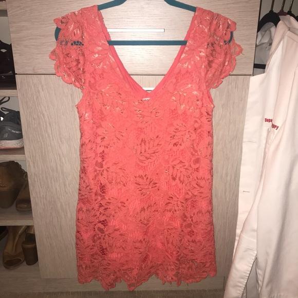 Bb Dakota Jacqueline Lace Shift Dress Size S
